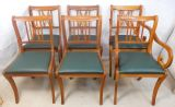 Set of Six Yew Dining Chairs by Beresford & Hicks